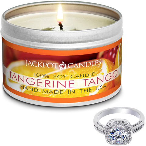 Tangerine Tango Candle Travel Tin & Bath Bomb Gift Set