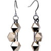 Handmade Gunmetal Pyramid Earrings Created with Swarovski Crystals