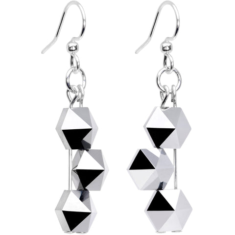 Handmade Geometric Earrings Created with Swarovski Crystals