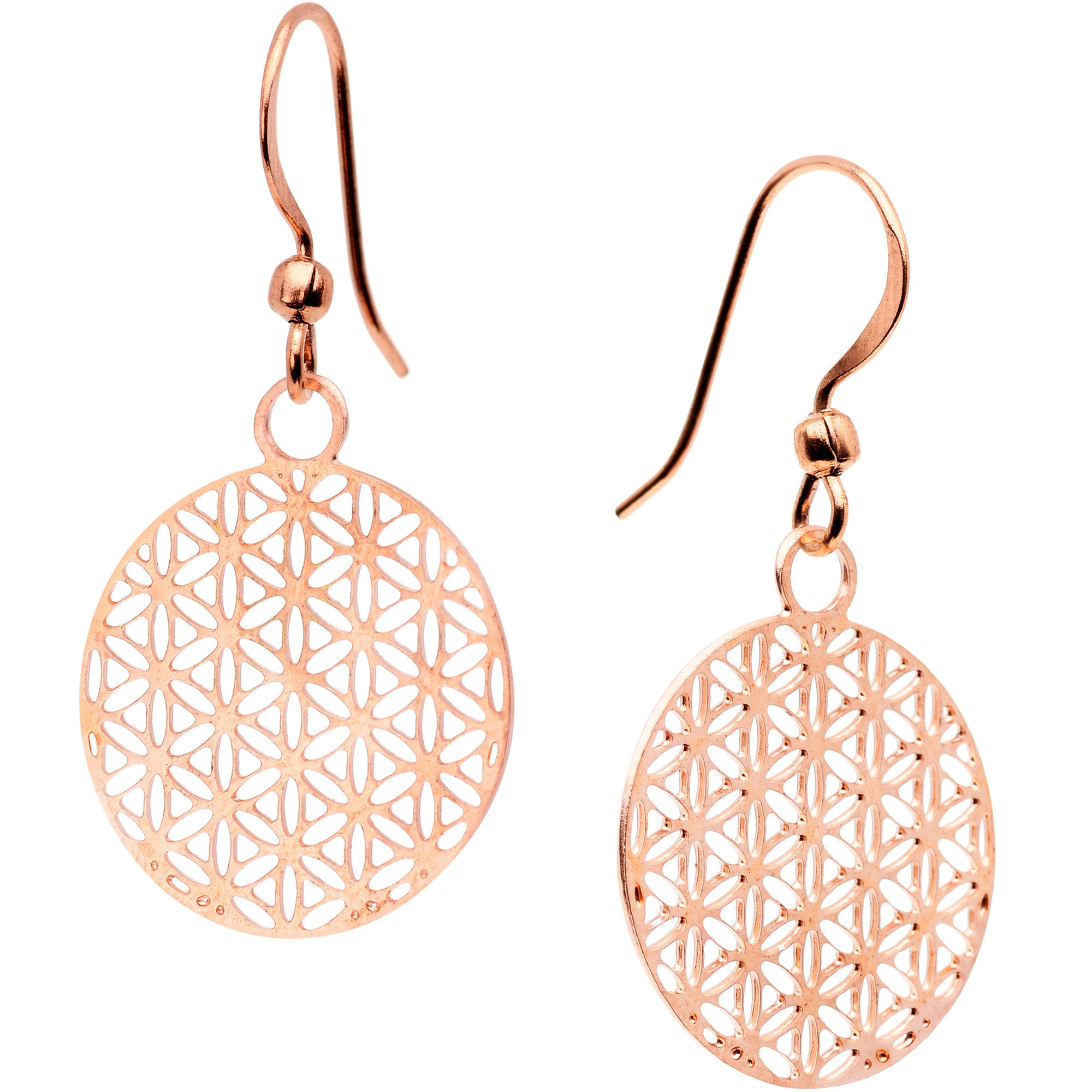 Handcrafted Copper Geometric Refraction Fishhook Earrings