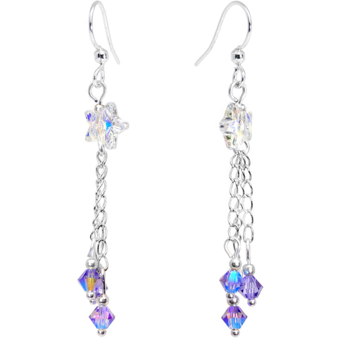 Handcrafted Stardust Fishhook Earrings Created with Swarovski Crystals