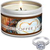 Caramel Coffee Latte Jewelry Ring Candle Travel Tin