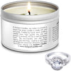 Warm Apple Pie Jewelry Candle Travel Tin Ring