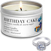 Birthday Cake Jewelry Candle Travel Tin Ring