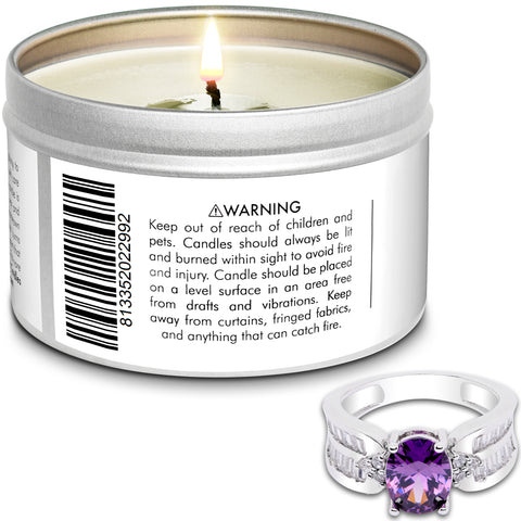 Santa's Cookies Jewelry Ring Candle Travel Tin