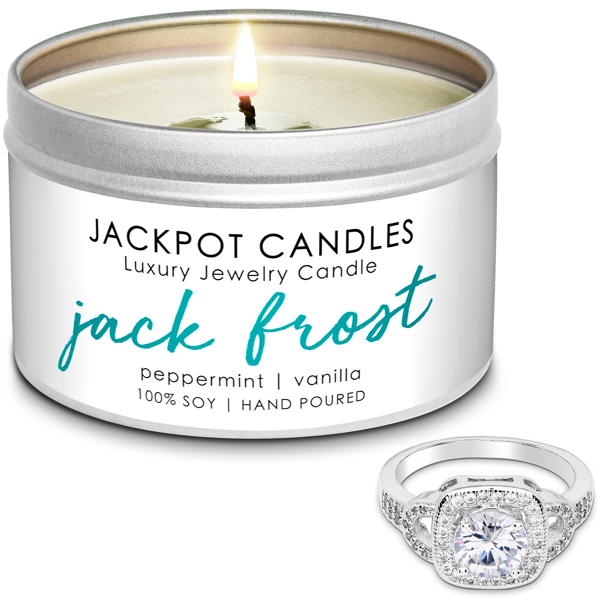 Jack Frost Jewelry Ring Candle Travel Tin