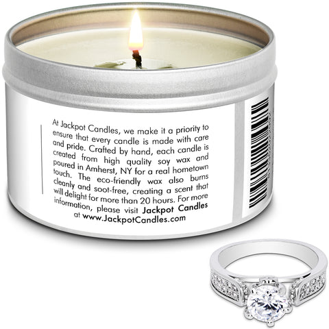 Christmas Jewelry Ring Candle Travel Tin