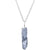 Handcrafted Blue Natural Quartz Crystal Silver Plated Chain Necklace