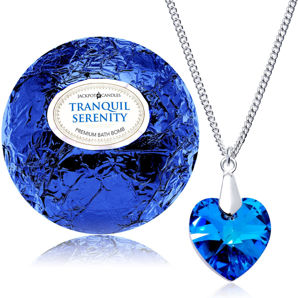 Tranquil Serenity Bath Bomb with Necklace Created with Swarovski Crystal