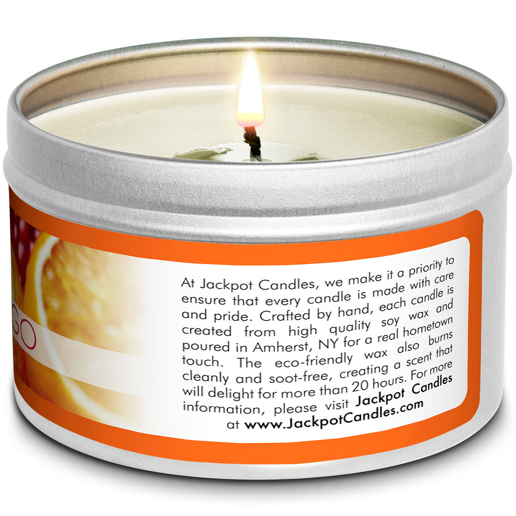 Tangerine Tango Jewelry Candle Travel Tin
