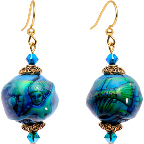 Handmade Mermaid Dreams Mood Earrings Created with Swarovski Crystals
