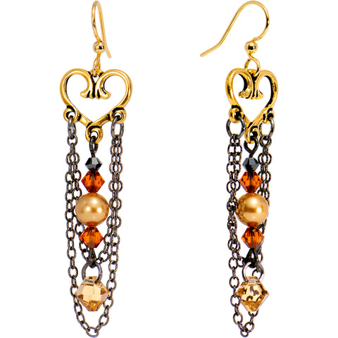 Handcrafted Warmth and Love Earrings Created with Swarovski Crystals