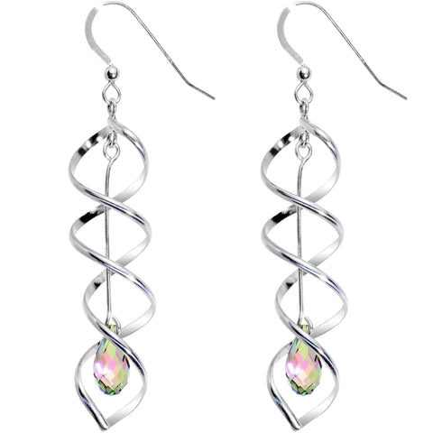 925 Silver Aurora Tortion Earrings Created with Swarovski Crystals