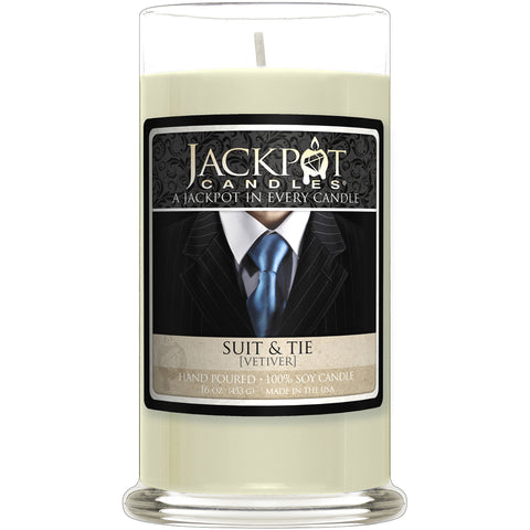 Suit and Tie Jewelry Ring Candle