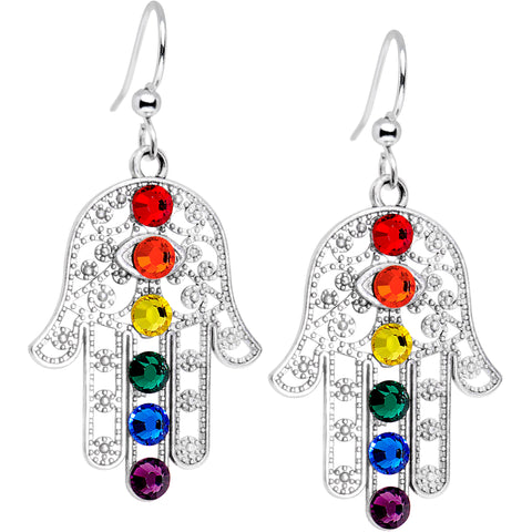 Blessing of the Chakras Earrings Created with Swarovski Crystals