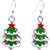 Silver Plated Snowy Christmas Tree Fishhook Earrings