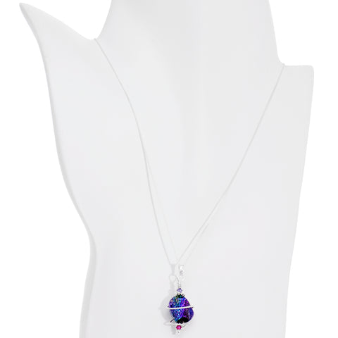 Space Goddess Crystal Necklace Created with Swarovski Crystals