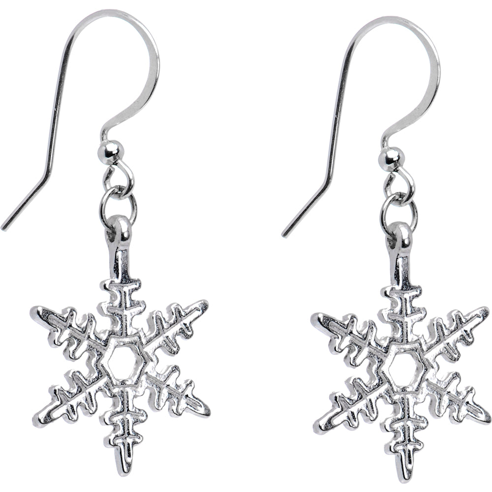 Holiday Winter Snowflake Earrings