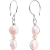 925 Silver Faux Pearl Hook Earrings Created with Swarovski Crystals