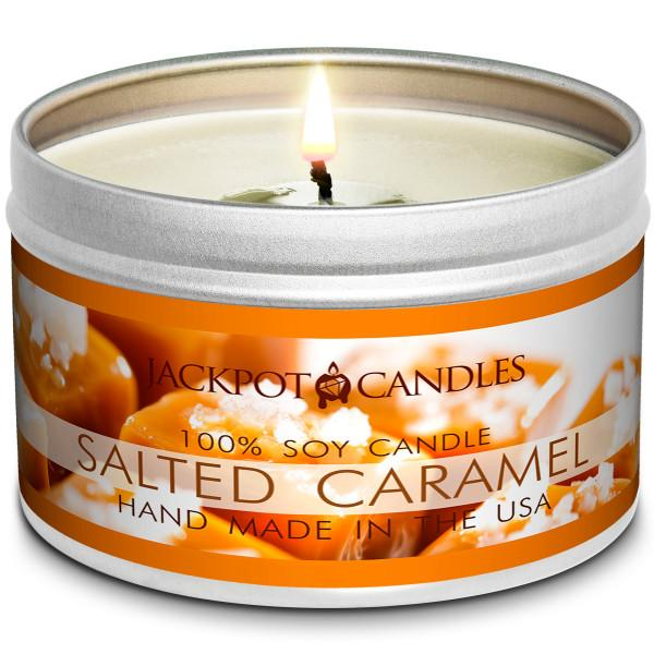 Salted Caramel Jewelry Candle Travel Tin