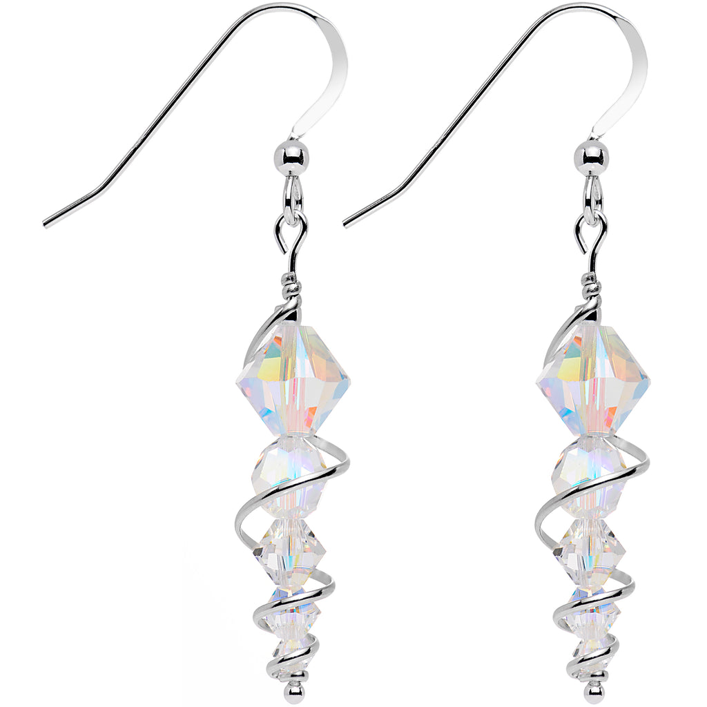 925 Silver Icicle Drop Earrings Created with Swarovski Crystals