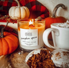 Pumpkin Spice Wooden Wick Jewelry Ring Candle