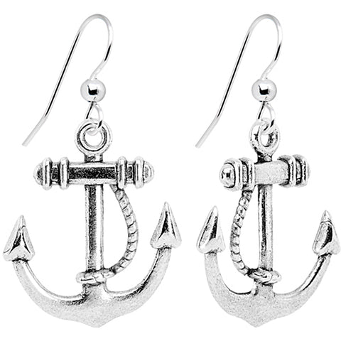 Nautical Anchor Dangle Earrings
