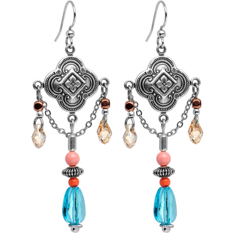 Bali Beauty Dangle Earrings Made with Swarovski Crystals