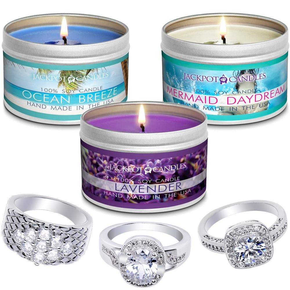 Relaxation 3-Pack Jewelry Candle Travel Tin Gift Set