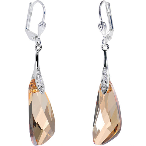 Gold Crystal Inspire Dangle Earrings Created with Swarovski Crystals