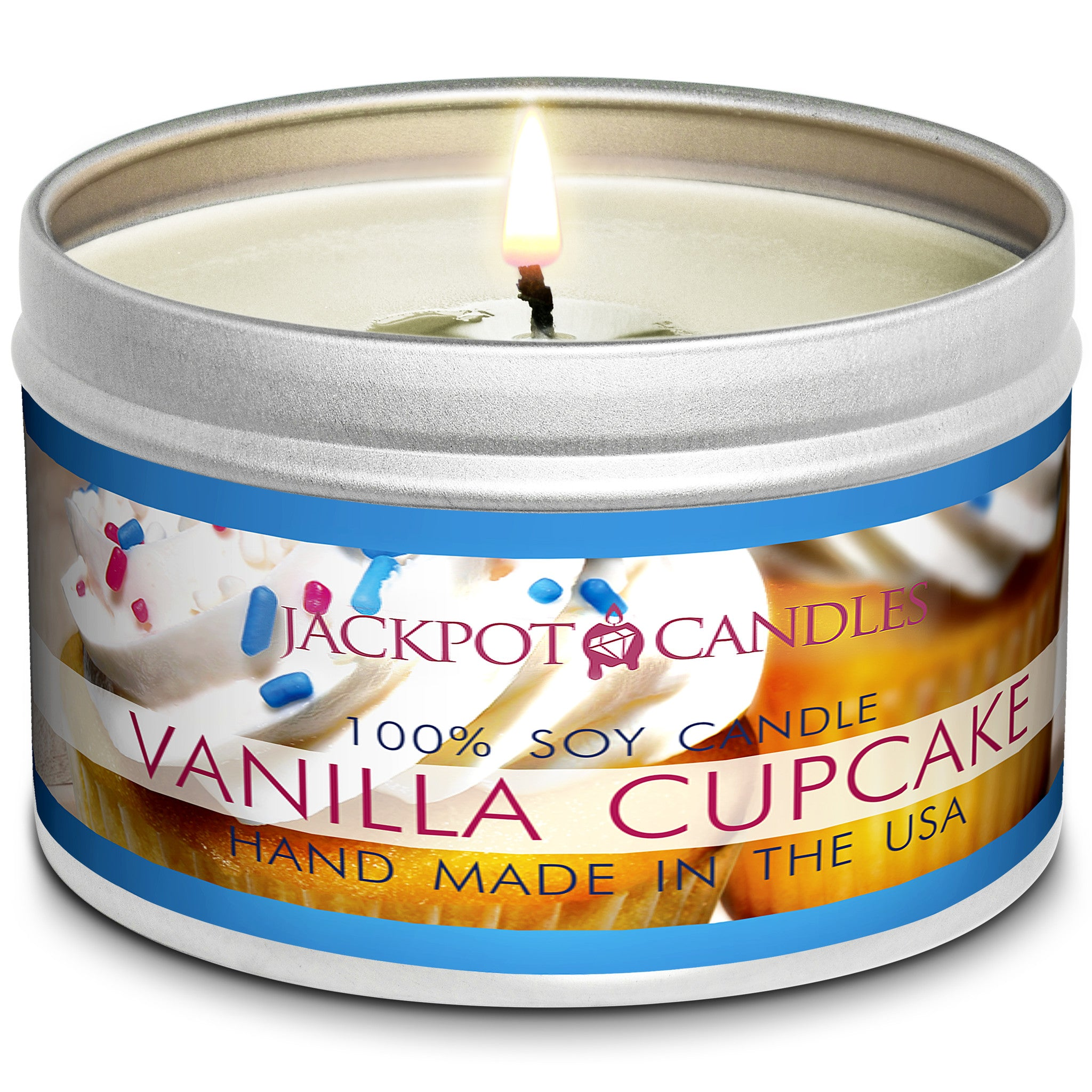 Vanilla Cupcake Jewelry Candle Travel Tin