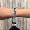 Handcrafted Blue Howlite Bended Feather Nylon Cord Bangle Bracelet