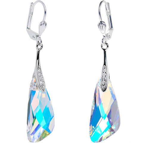 Aurora Crystal Inspire Dangle Earrings Created with Swarovski Crystals