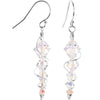 14k White Gold Clear Icicle Earrings Created with Swarovski Crystals