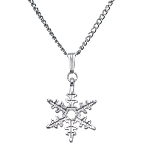 Stainless Steel Holiday Winter Snowflake Necklace