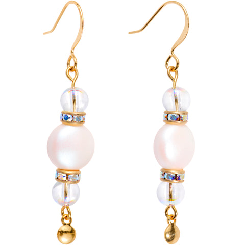 Handcrafted Creamy Elegance Earrings Created with Swarovski Crystals