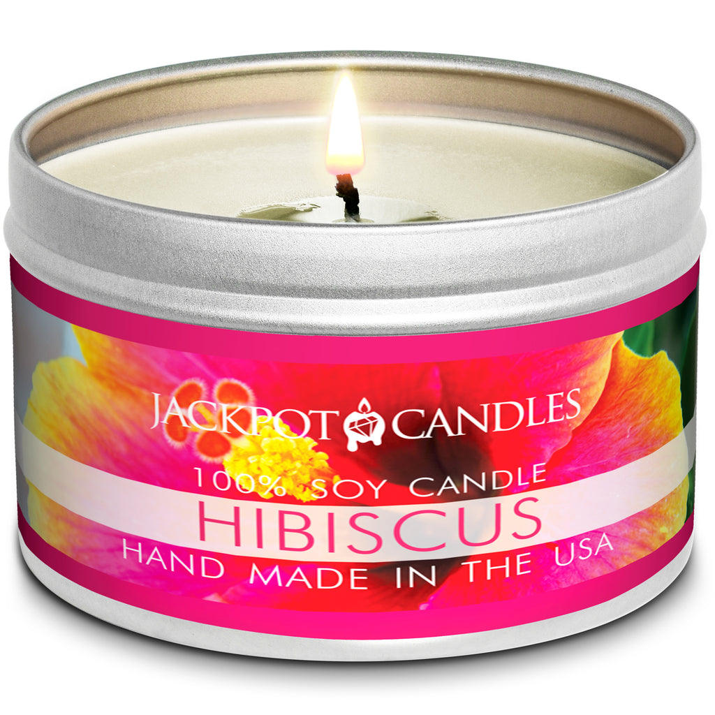 Hibiscus Jewelry Candle Travel Tin