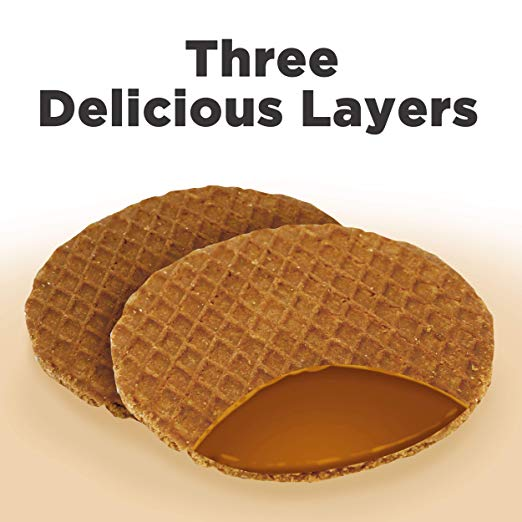 L'Orenta Single Serve Stroopwafel Caramel/Vanilla (Variety Pack - 32 Waffles)