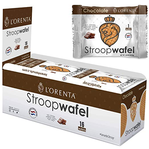 L'Orenta Single Serve Stroopwafel Chocolate (16 Count Box)