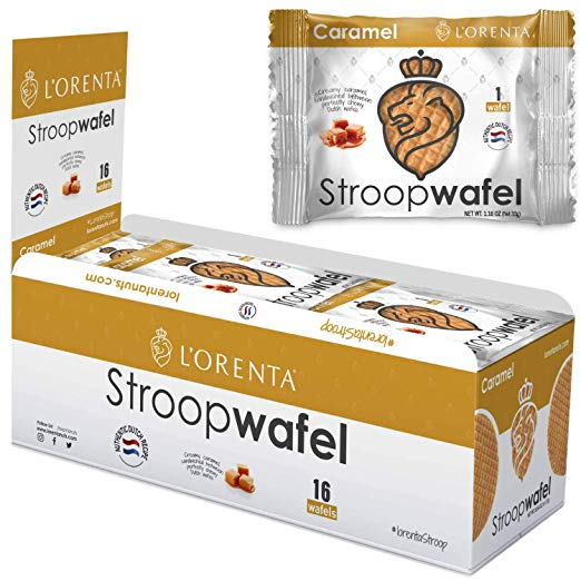 L'Orenta Single Serve Stroopwafel Caramel (16 Count Box)