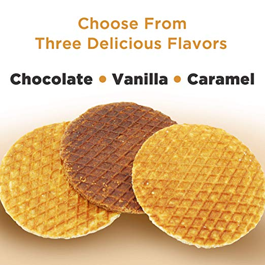 L'Orenta Single Serve Stroopwafel Caramel (Master Case - 192 Waffles)