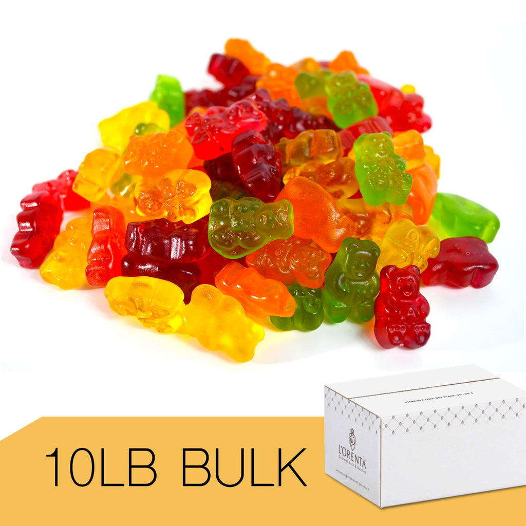 5 Natural Flavor Gummi Bears (Gummy Candy)
