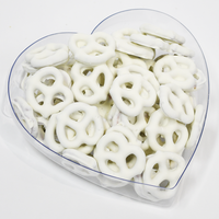 Yogurt Pretzels in Heart