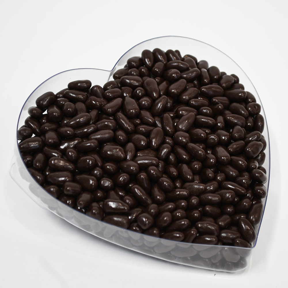 Dark Chocolate Espresso Beans in Heart