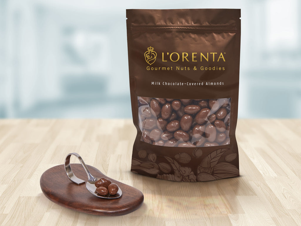 L'Orenta Milk Chocolate-Covered Almonds - 12 oz, 16 oz