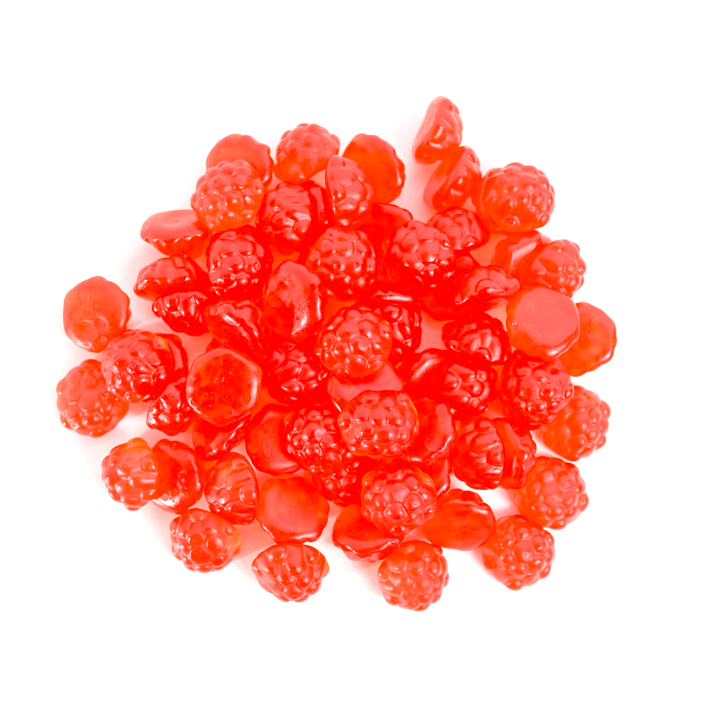 Berry Red Gummy Raspberries (Gummy Candy)