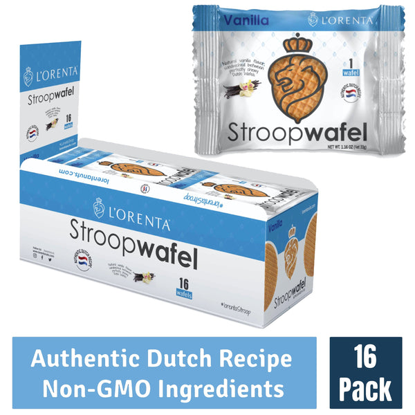 L'Orenta Single Serve Stroopwafel Vanilla (16 Count Box)