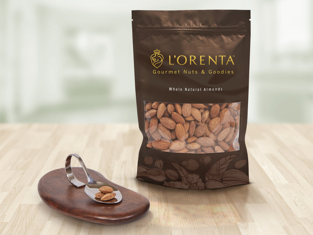 L'Orenta Roasted Almonds (Salted) - 12 oz, 16 oz