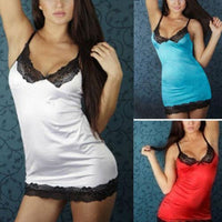 Fashion Sexy Women Lingerie Sleepwear Lace Dress Underwear Nightwear G-string CA