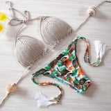 Vintage Bikini Sexy Crochet Bikini Swimwear Knitted Bikini Swimsuit Handmade Bathing Suit